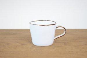 カフェマグ ふち錆ホワイトマット