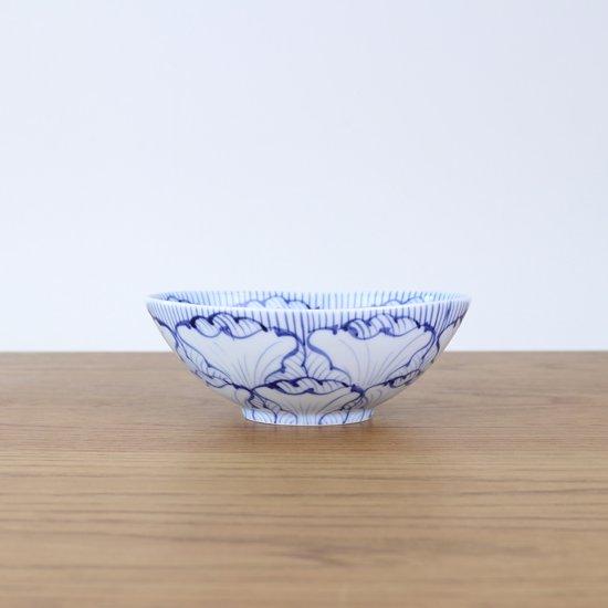 楕円鉢(小)染付花弁紋