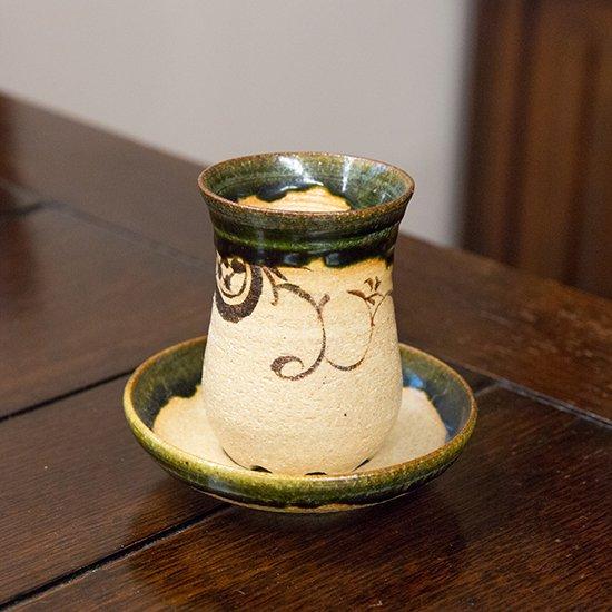 玉樹窯[紀]×Windsor Lumos 織部 チャイグラス
