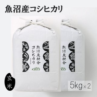新米予約受付中 令和3年産 魚沼産コシヒカリ 玄米 10kg 5kg×2袋