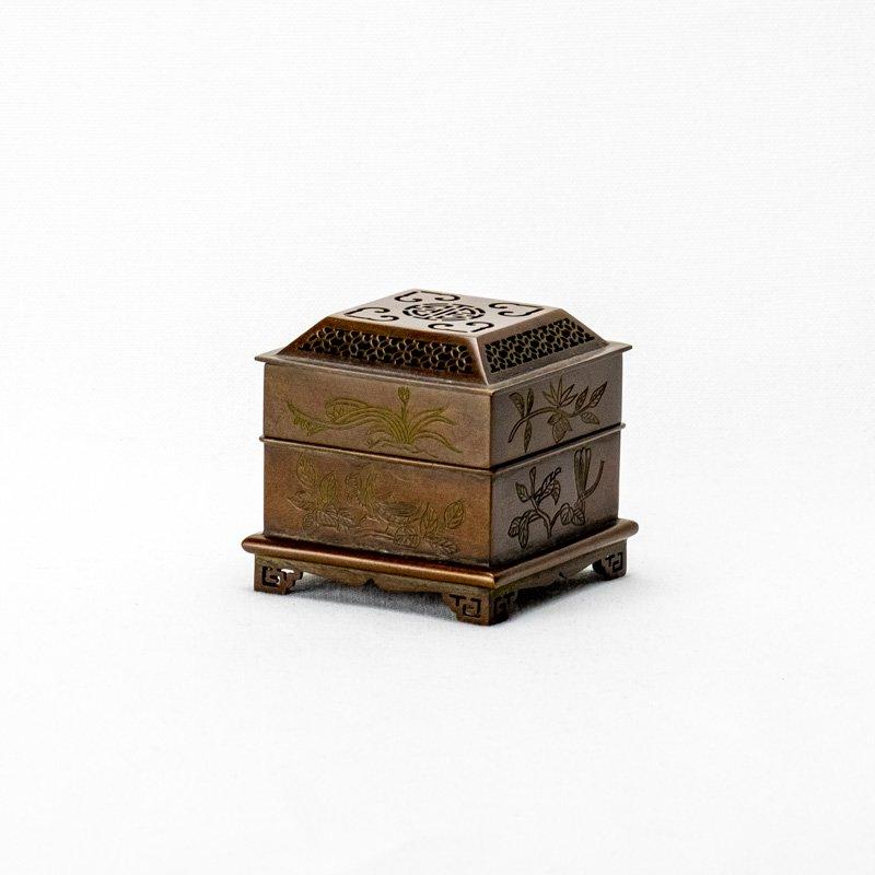 【お香型抜き】桐箱入り「香」型抜き極上香炉 抹香・燃香専用