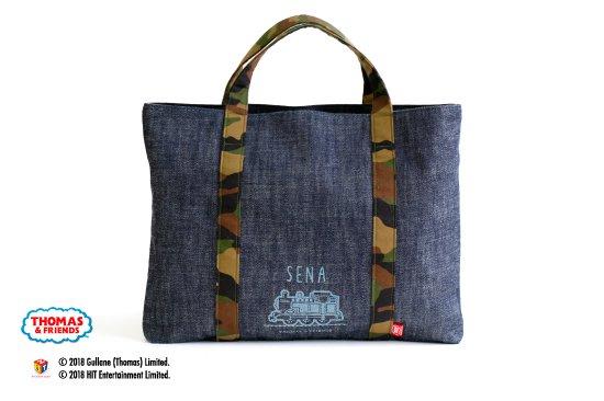kikka for mother(キッカフォーマザー) |THOMAS&FRIENDS(きかんしゃトーマス) 名入れができるデニムレッスンバッグ(Camouflage) 商品画像