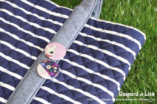Gaspard et Lisa (リサとガスパール) 名入れができる缶バッジ【ピンク】 商品画像