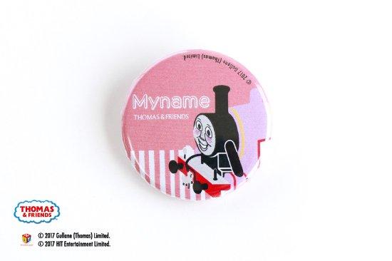 kikka for mother(キッカフォーマザー) |THOMAS&FRIENDS(きかんしゃトーマス)  名入れができる缶バッジ【クラシカル ロージー】 商品画像