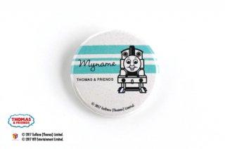 THOMAS&FRIENDS(きかんしゃトーマス)  名入れができる缶バッジ【モノクロ トーマス】