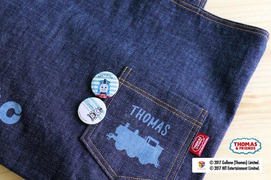 THOMAS&FRIENDS(きかんしゃトーマス)  名入れができる缶バッジ【モノクロ ハロルド】 商品画像