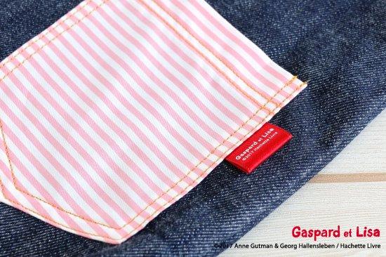 Gaspard et Lisa(リサとガスパール) 名入れができるデニムレッスンバッグ(Pocket) 商品画像