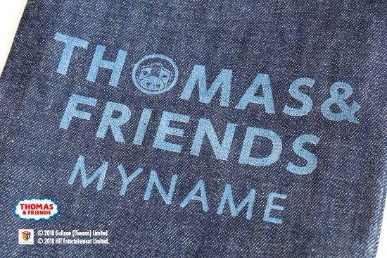 THOMAS&FRIENDS(きかんしゃトーマス) 名入れができるデニムシューズバッグ(Stripe) 商品画像