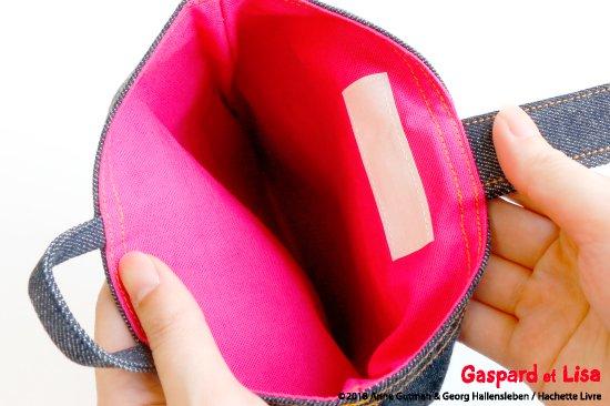 Gaspard et Lisa(リサとガスパール) 名入れができるデニムシューズバッグ(Pocket) 商品画像