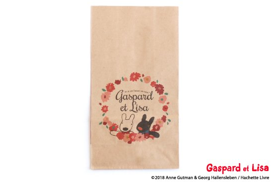 Gaspard et Lisa (リサとガスパール) ペーパーバッグ 角底袋(ガーリー) 商品画像