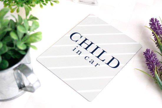 kikka for mother(キッカフォーマザー) |Stylish! カーマグネット CHILD IN CAR(ストライプ) 商品画像
