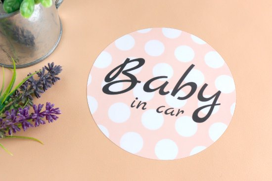 kikka for mother(キッカフォーマザー) |Stylish! カーステッカー BABY IN CAR(ドット) 商品画像