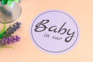 Stylish! カーステッカー BABY IN CAR(ラベンダー)