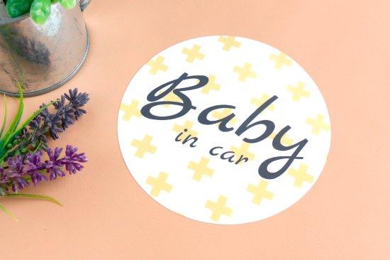 kikka for mother(キッカフォーマザー) |Stylish! カーステッカー BABY IN CAR(クロス) 商品画像