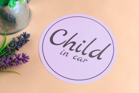 kikka for mother(キッカフォーマザー) |Stylish! カーステッカー CHILD IN CAR(ラベンダー) 商品画像