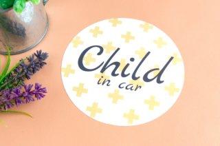 Stylish! カーステッカー CHILD IN CAR(クロス)