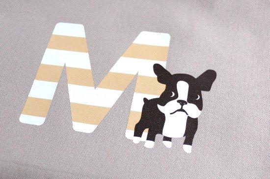 Stylish! 名入れができる倉敷の帆布レッスンバッグ フレンチブル(ボーダー) 商品画像
