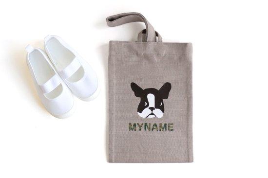 kikka for mother(キッカフォーマザー) |Stylish! 名入れができる倉敷の帆布シューズバッグ フレンチブル(カモフラ) 商品画像