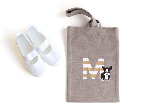 kikka for mother(キッカフォーマザー) |Stylish! 名入れができる倉敷の帆布シューズバッグ フレンチブル(ボーダー) 商品画像