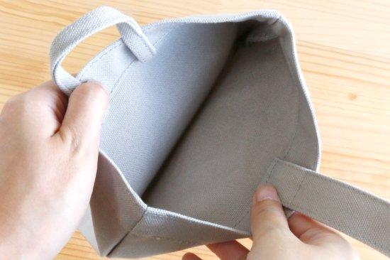 Stylish! 名入れができる倉敷の帆布シューズバッグ フレンチブル(ボーダー) 商品画像