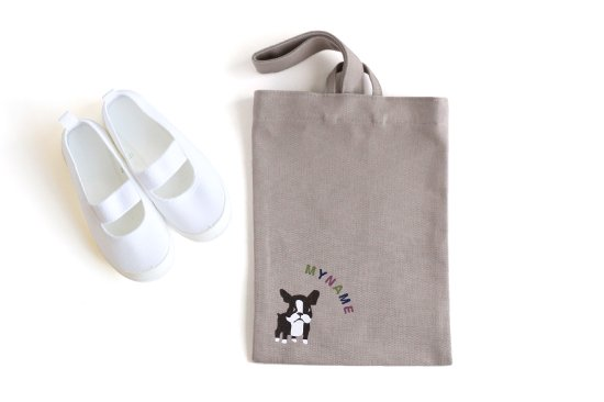 kikka for mother(キッカフォーマザー) |Stylish! 名入れができる倉敷の帆布シューズバッグ フレンチブル(カラフル) 商品画像