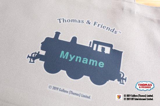 THOMAS&FRIENDS(きかんしゃトーマス) 名入れができる倉敷の帆布レッスンバッグ【ミントグリーン】 商品画像