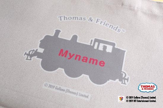 THOMAS&FRIENDS(きかんしゃトーマス) 名入れができる倉敷の帆布レッスンバッグ【ピンク】 商品画像