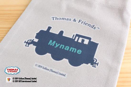 THOMAS&FRIENDS(きかんしゃトーマス) 名入れができる倉敷の帆布シューズバッグ【ミントグリーン】 商品画像