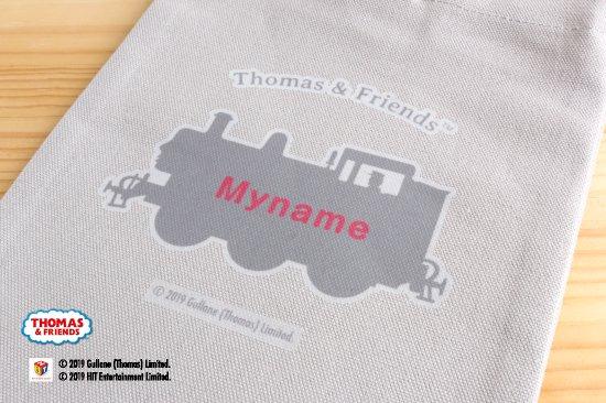 THOMAS&FRIENDS(きかんしゃトーマス) 名入れができる倉敷の帆布シューズバッグ【ピンク】 商品画像