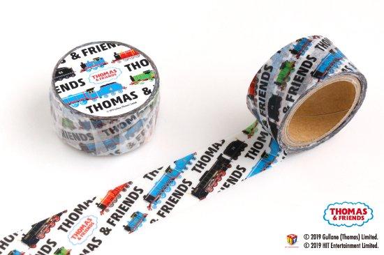 kikka for mother(キッカフォーマザー) |THOMAS&FRIENDS(きかんしゃトーマス) マスキングテープ【ホワイトブラック】 商品画像