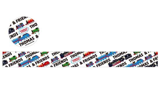 THOMAS&FRIENDS(きかんしゃトーマス) マスキングテープ【ホワイトブラック】 商品画像