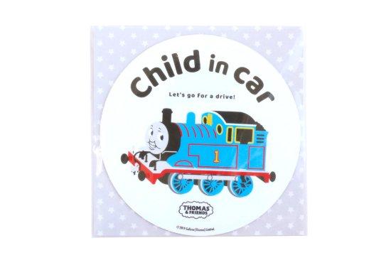 THOMAS&FRIENDS(きかんしゃトーマス) カーマグネット・CHILD IN CAR(ラウンド) 商品画像