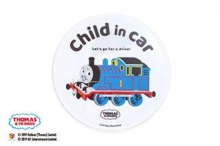 THOMAS&FRIENDS(きかんしゃトーマス) カーマグネット・CHILD IN CAR(ラウンド)