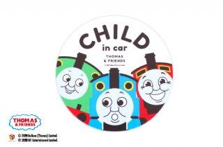 THOMAS&FRIENDS(きかんしゃトーマス) カーマグネット・CHILD IN CAR(ビッグスリー)