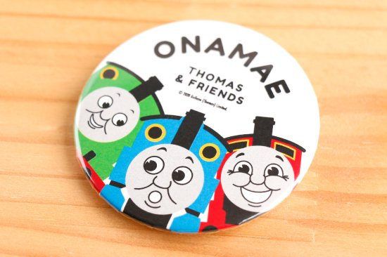 <img class='new_mark_img1' src='https://img.shop-pro.jp/img/new/icons14.gif' style='border:none;display:inline;margin:0px;padding:0px;width:auto;' />THOMAS&FRIENDS(きかんしゃトーマス)  名入れができる缶バッジ【ビッグスリー】 商品画像