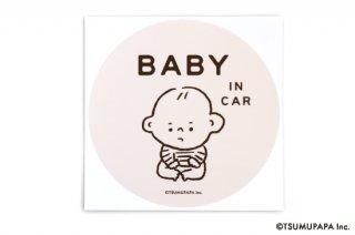 TSUMUPAPA(つむぱぱ) カーステッカー BABY IN CAR