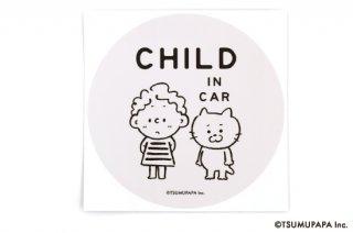 TSUMUPAPA(つむぱぱ) カーステッカー CHILD IN CAR