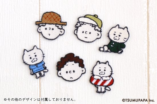TSUMUPAPA(つむぱぱ)ミニワッペン(TSUMUGI-STRAWHAT) 商品画像