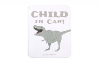 Stylish! カーマグネット CHILD IN CAR ダイナソー(ティラノサウルス)