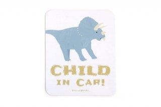 Stylish! カーマグネット CHILD IN CAR ダイナソー(トリケラトプス)