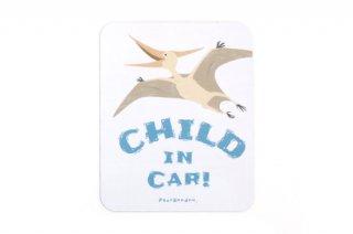 Stylish! カーマグネット CHILD IN CAR ダイナソー(プテラノドン)
