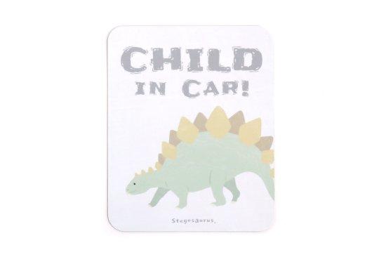 kikka for mother(キッカフォーマザー)  Stylish! カーマグネット CHILD IN CAR ダイナソー(ステゴサウルス) 商品画像