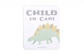 Stylish! カーマグネット CHILD IN CAR ダイナソー(ステゴサウルス)