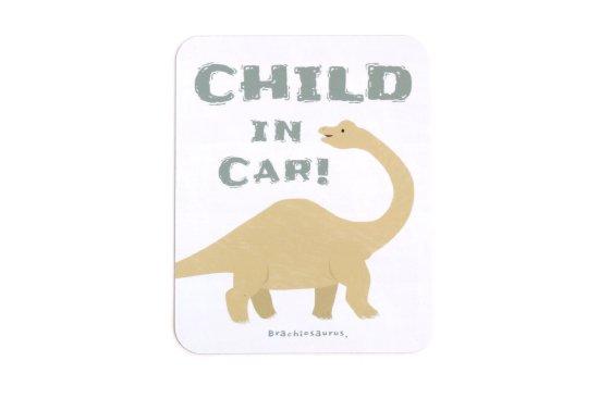 kikka for mother(キッカフォーマザー)  Stylish! カーマグネット CHILD IN CAR ダイナソー(ブラキオサウルス) 商品画像