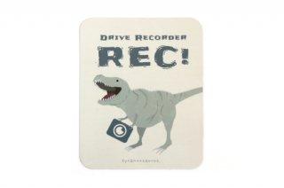 Stylish! カーマグネット Drive Recorder ダイナソー(ティラノサウルス)