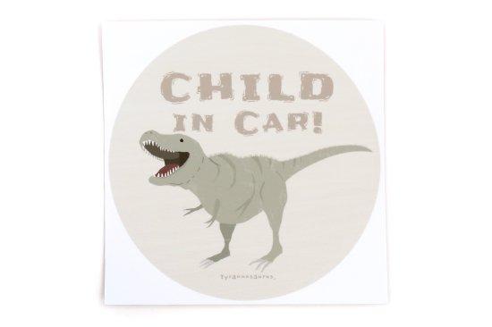 kikka for mother(キッカフォーマザー)  Stylish! カーステッカー CHILD IN CAR ダイナソー(ティラノサウルス) 商品画像