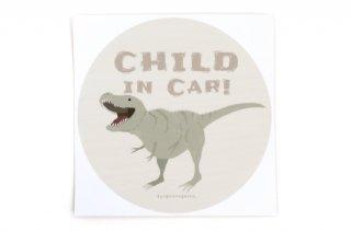 Stylish! カーステッカー CHILD IN CAR ダイナソー(ティラノサウルス)
