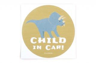 Stylish! カーステッカー CHILD IN CAR ダイナソー(トリケラトプス)