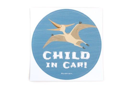 kikka for mother(キッカフォーマザー)  Stylish! カーステッカー CHILD IN CAR ダイナソー(プテラノドン) 商品画像