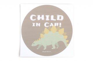 Stylish! カーステッカー CHILD IN CAR ダイナソー(ステゴサウルス)
